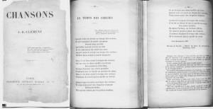 CHANSONS de J.-B.CLEMENT,1885(大佛次郎記念館所蔵)