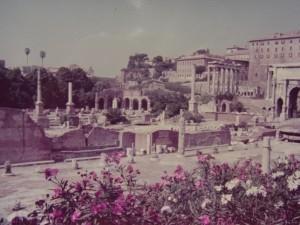 パリからの旅 ローマ フォロ・ロマーノ 1971.8.13